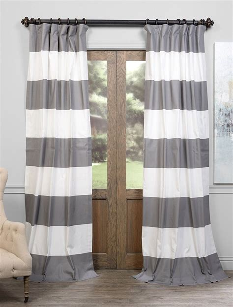 black white striped curtains horizontal best 25 horizontal striped curtains ideas on pinterest
