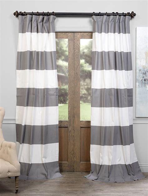 Horizontal Stripe Curtains » Home Design 2017