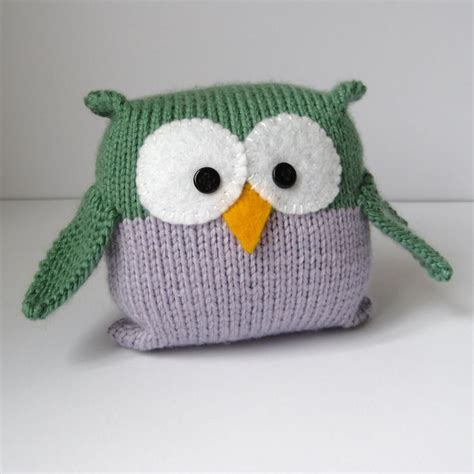knit toys tooley owl knitting pattern easy to knit for