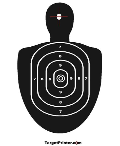 printable large rifle targets printable large silhouette human shooting target airsoft
