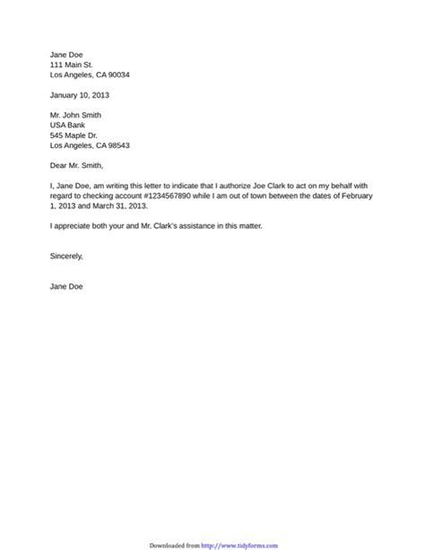 authorization letter docx sle authorization letter for free tidyform