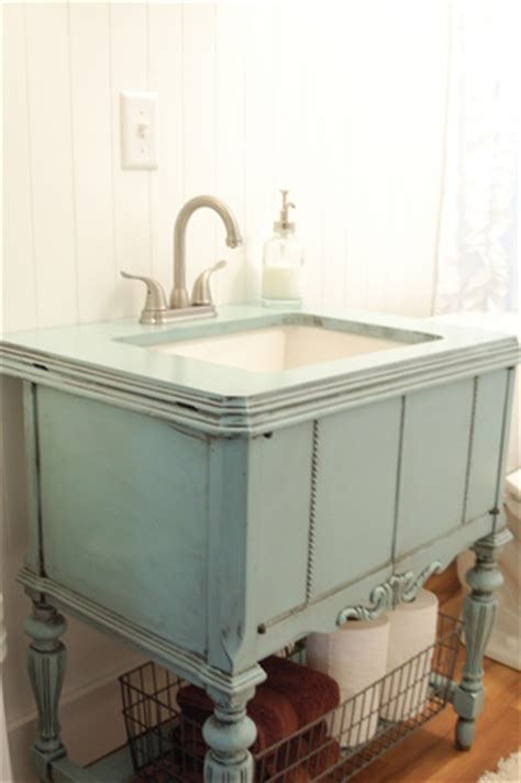 repurposed bathroom cabinet a repurposed sewing machine cabinet is now a bathroom