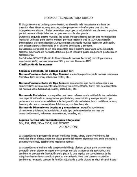 Calaméo - NORMAS TECNICAS PARA DIBUJO Y LAS FLECHAS DE COTA