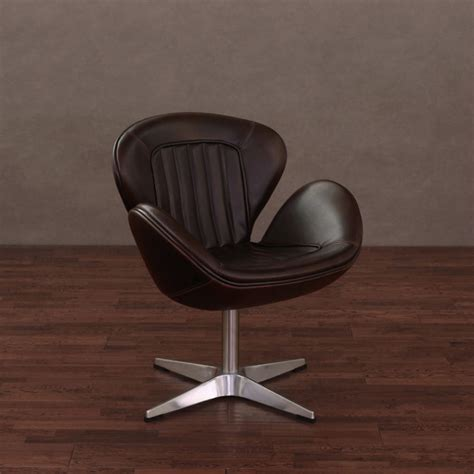Amelia Vintage Tobacco Leather Swivel Chair Contemporary Retro Swivel Chairs