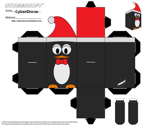 Papercraft Penguin - cubee penguin by cyberdrone on deviantart