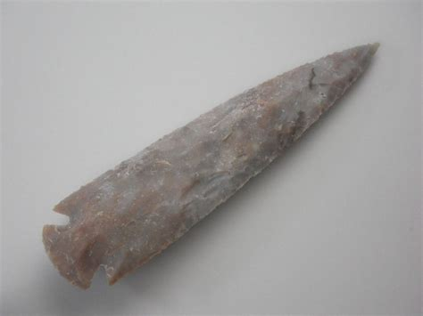 Handmade Rock - 8 75 quot handmade spearhead spear point flint rock