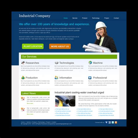 Best Industrial Website Template Design Psd For Your Industrial Website Purchase Website Templates