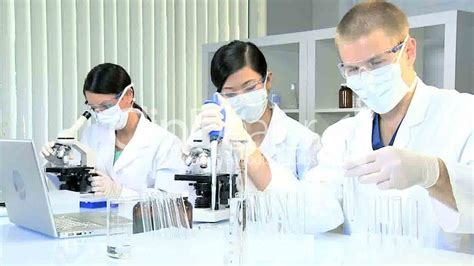 research assistants working in medical laboratory royalty