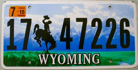 Wyoming Vanity Plates by 2015 Wyoming License Plate 17 47226