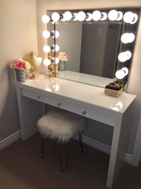 2 desk with light vanity mirror with desk lights home remedy diy