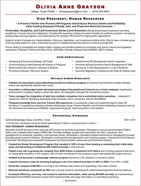 hr executive resume format doc executive resume template free premium templates forms sles for jpeg png