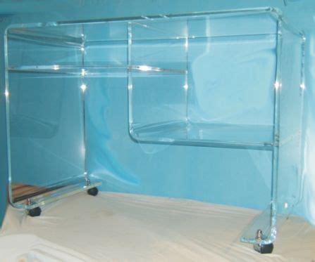 scrivania in plexiglass scrivania in plexiglas sp 15mm piegata incollata con