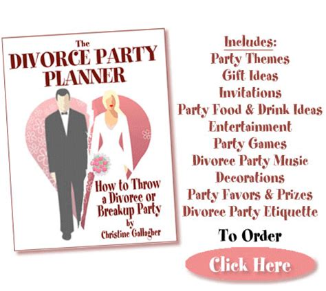 divorce on how to throw a themed divorce books divorce planner how to throw a divorce or breakup