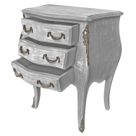 commode de chevet table de nuit chevet commode baroque en bois gris patin 233