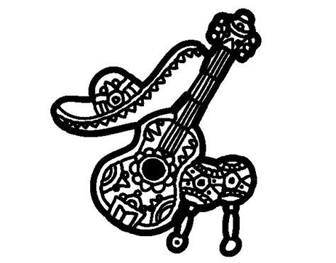chinese instruments coloring pages coloriage de instruments mexicaine pour colorier