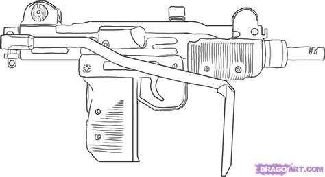 free coloring pages of machine guns gun coloring pages