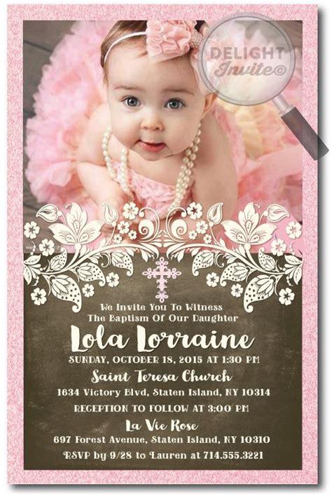 design invitation for christening vintage victorian pink peach baptism invitations di 824