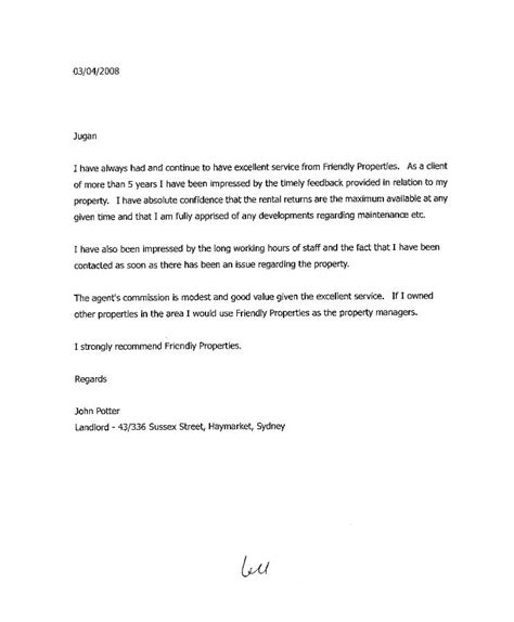 Recommendation Letter For A Friend To Rent An Apartment Landlord Reference Letter Jvwithmenow