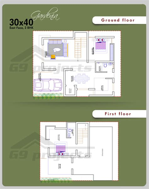 30x40 house floor plans architectural designs