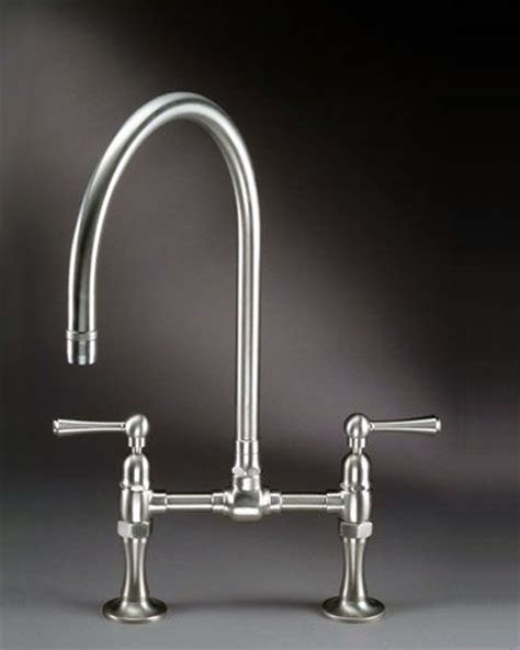 bridge style kitchen faucets steam valve original deck mount bridge kitchen faucets