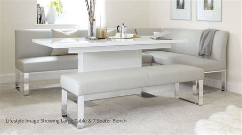 corner table bench set 5 seater left hand corner bench and extending dining table