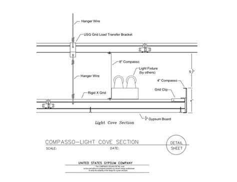 gypsum ceiling section detail usg design studio 09 54 00 13 131 specialty ceilings