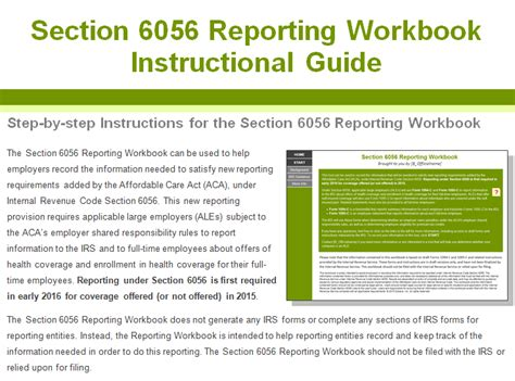 Section 6056 Reporting Requirements by Aca Seminar Self Insured Employer 6055 And Applicable