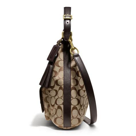 Coach Legacy Signature Cotton Shoulder Bag by Lyst Coach Legacy Courtenay Hobo Shoulder Bag In