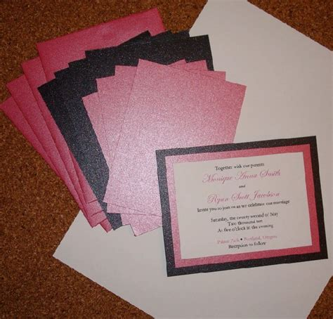 Simple Handmade Wedding Invitations - wedding invitationscherry cherry