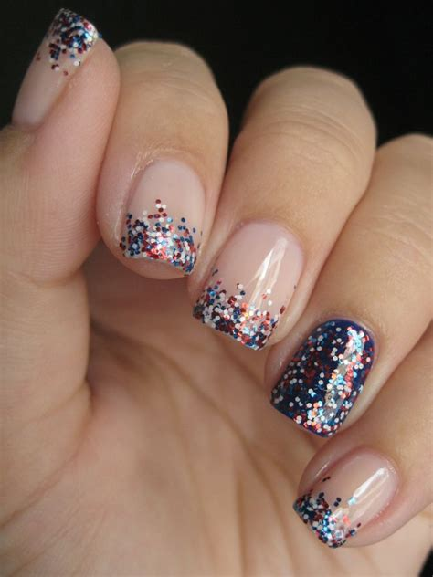 easy nail art glitter 16 nail designs for july 4th celebrate holiday with best