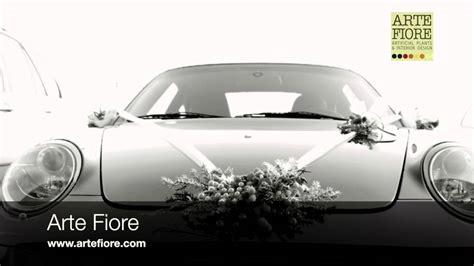 auto fiore arte fiore allestimento auto per matrimonio