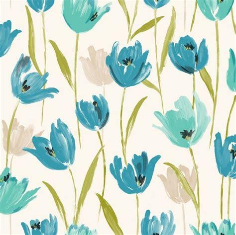 luxury tulip floral flowers leaf print  wallpaper