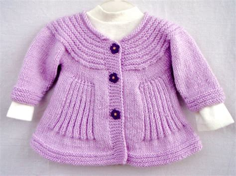 Handmade Sweaters For Babies - lilac handknit baby coat light purple knitted jacket