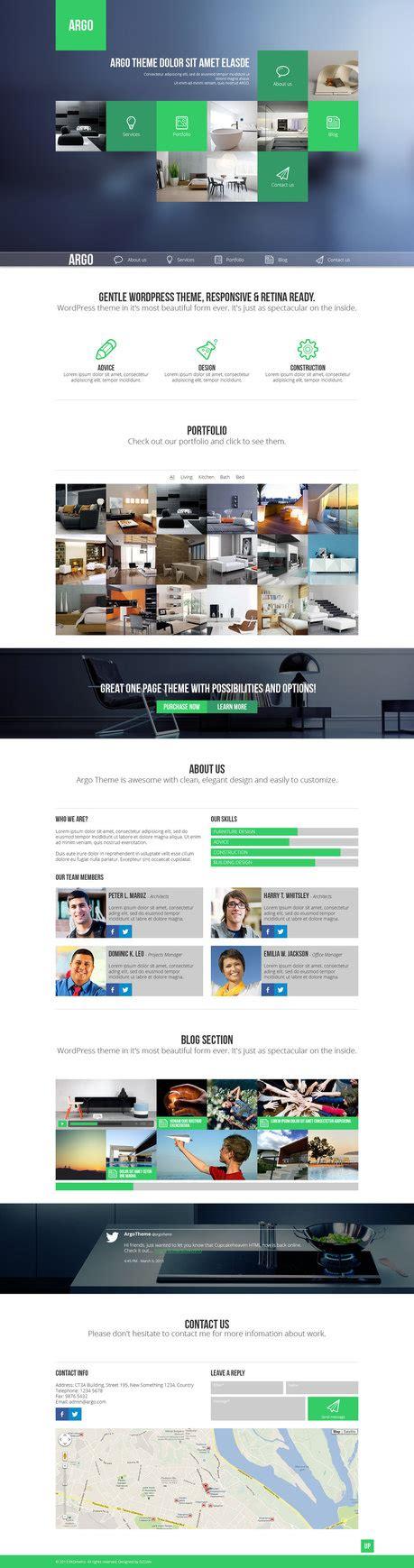 design inspiration web portfolio argo one page portfolio psd template by darkstalkerr on