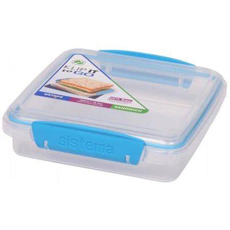 Sandwich Box To Go Asst 21647 ean 9414202216472 sistema 21647 klip it sandwich to go