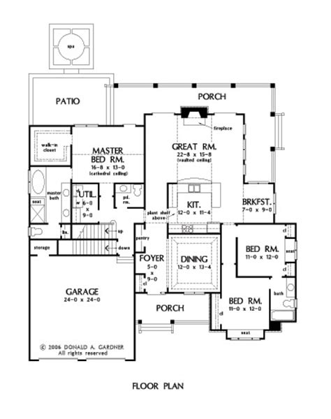 jenner house floor plan home plan the jenner by donald a gardner architects