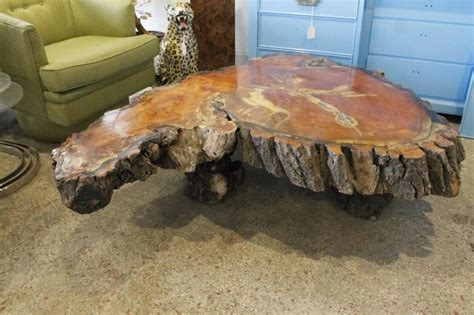 Cypress Stump Coffee Table Vintage Cypress Tree Trunk Coffee Or Cocktail Table For Sale At 1stdibs