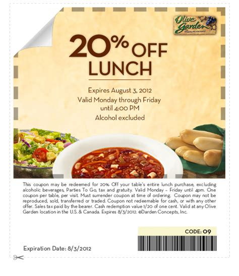 Printable Olive Garden Lunch Coupons | olive garden 20 off lunch coupon the pennywisemama