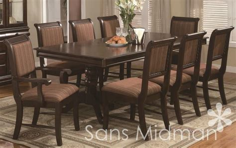8 chair dining table set 9 formal quot bordeaux quot dining room set table w 18 quot leaf