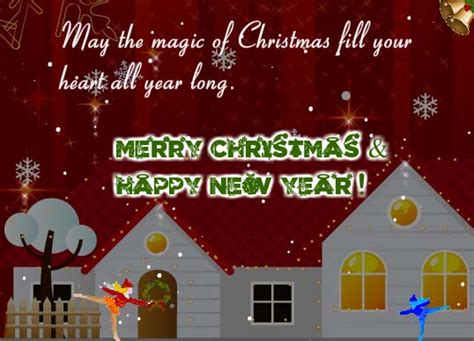 magic fill  heart  merry christmas wishes ecards