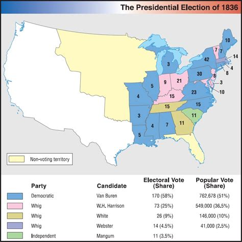 1832 election map us history maps