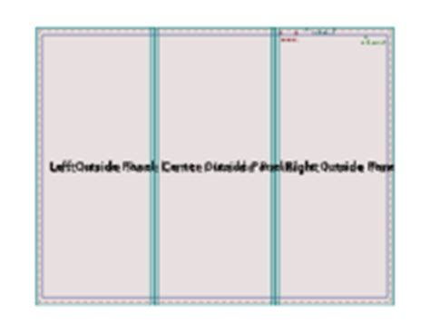 Trifold Brochure Template A4 Page Size Landscape Vector Free Vector Images Vector Me Trifold Size Template