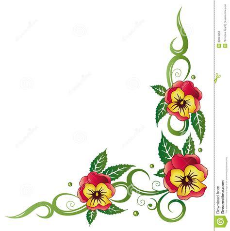 panse fiore pans 233 fiori illustrazione vettoriale immagine 39094058