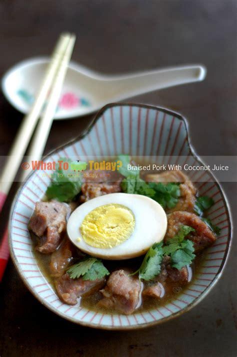 braised pork  coconut juice