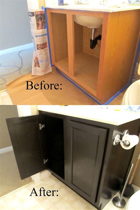 how to restain bathroom cabinets 17 diy bathroom upgrades you can actually do stains