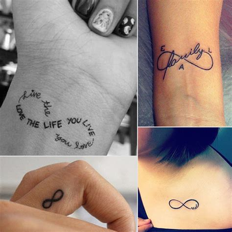 small sign tattoos infinity sign ideas popsugar