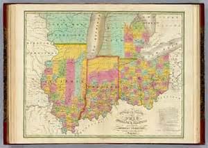 Map Of Indiana And Michigan by Map Of The States Of Ohio Indiana Amp Illinois And Part Of