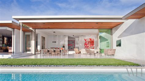 old modern mid century modern house in california