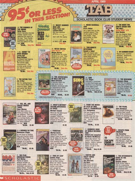 order picture books scholastic book order form 1989 front page of the