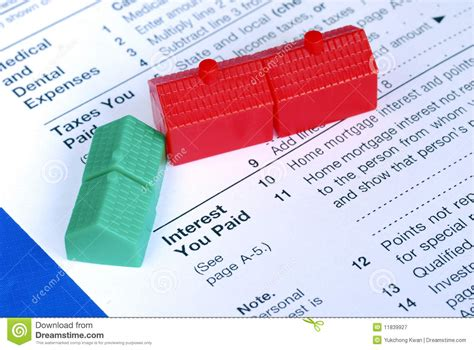 house loan interest exemption filling the mortgage interest deduction royalty free stock photography image 11839927